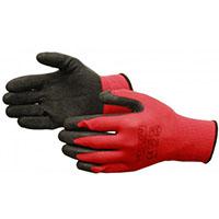 rękawice gumowane czerwone