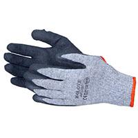 rękawice gumowane szare grube